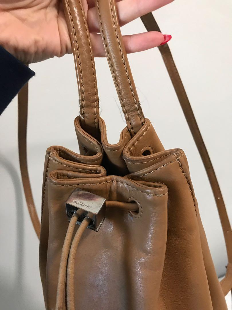aritzia auxiliary leather back pack