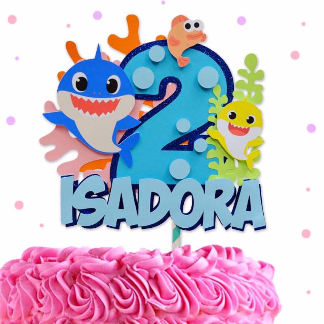 Baby Shark Cake Topper Customize Cake Topper Design Craft Handmade Craft On Carousell