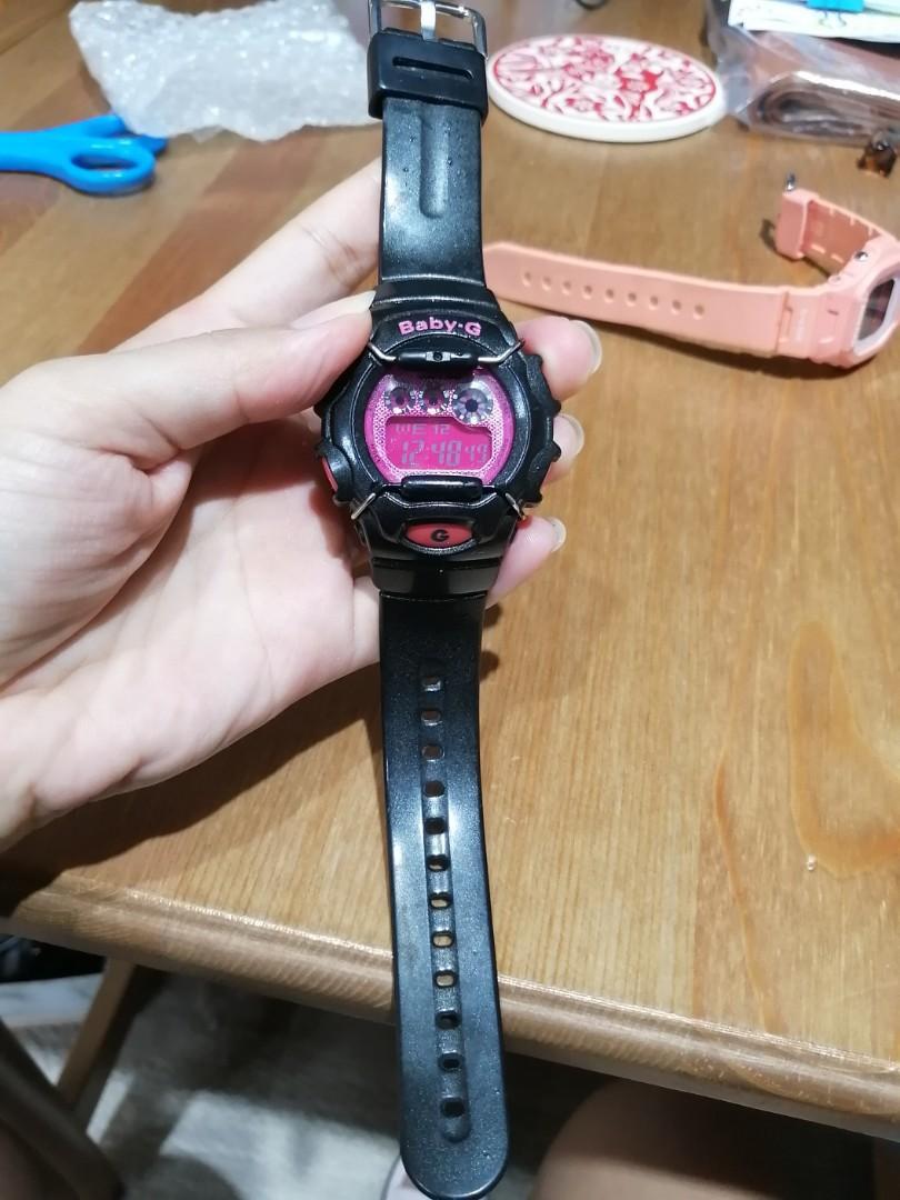 casio Baby-g手錶好搭的黑x桃紅