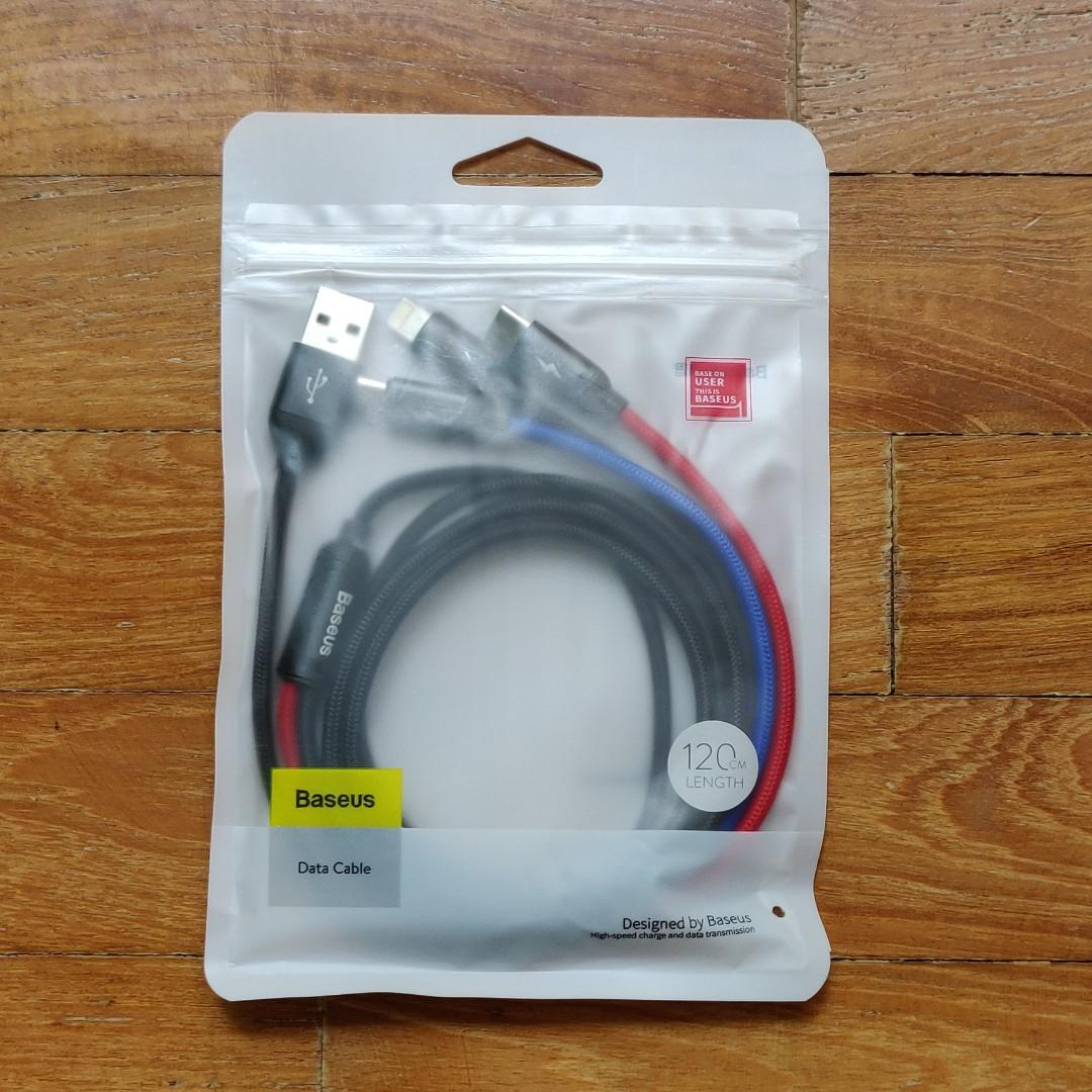 BN Baseus 3-in-1 Charging/Data Cable