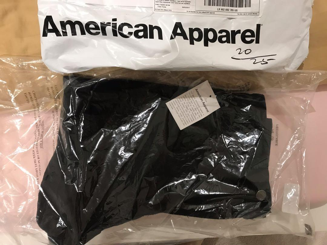 Brand New American Apparel high waisted shorts in black