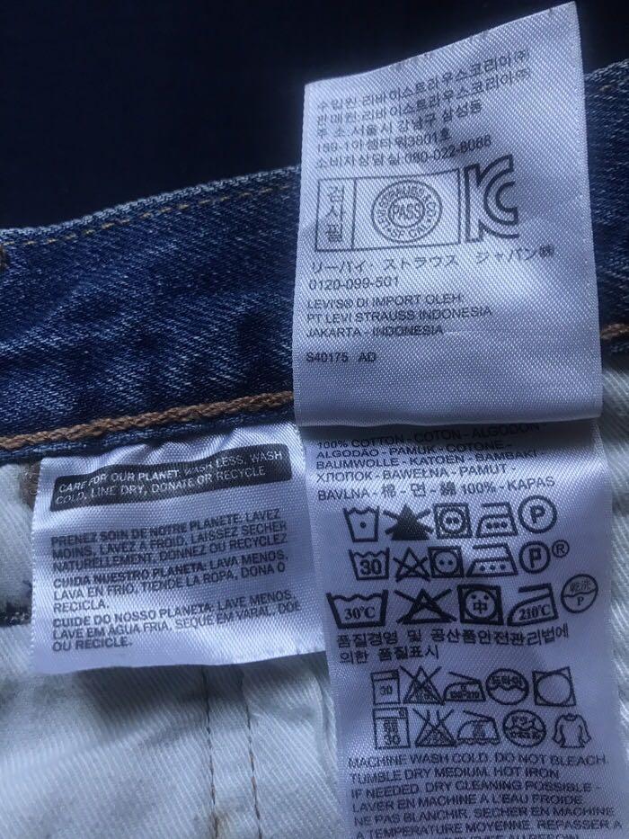 Celana Panjang Jeans Levi's 501 Regular Fit Original