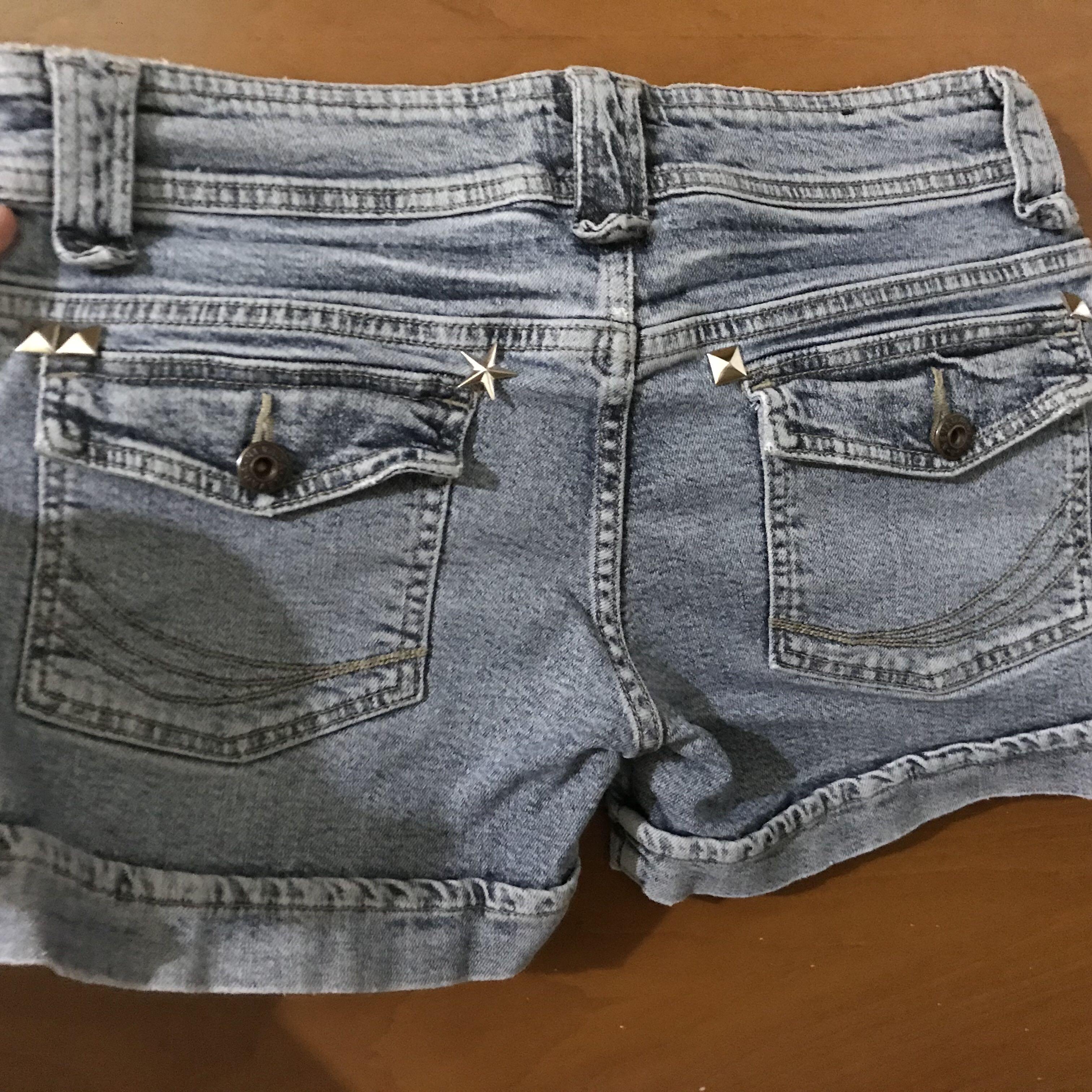 Celana Pendek Jeans Denim short studded studs