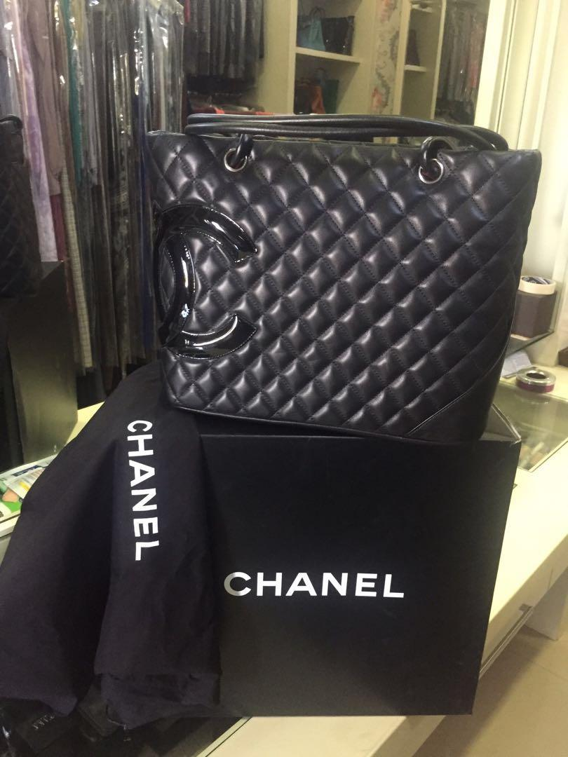 Chanel cambon ligne calfskin bag totte( authentic)