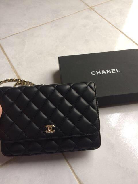Chanel lambskin vip leather