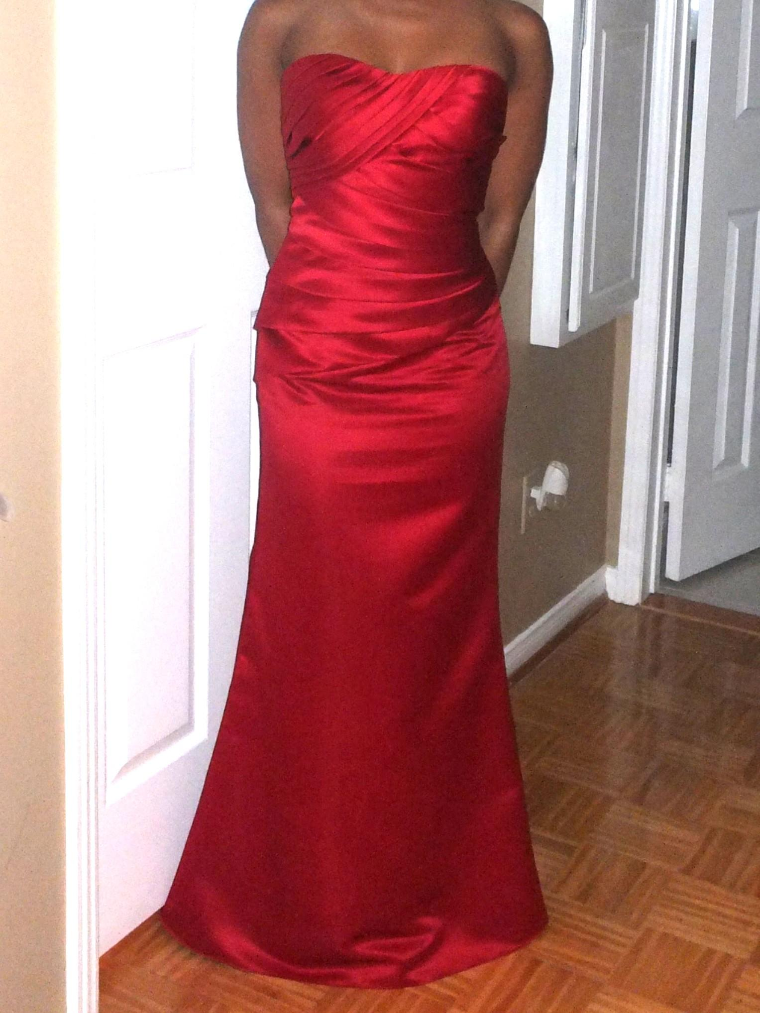 Formal Red Mermaid Dress For Gala, Prom, Wedding, Graduation Etc