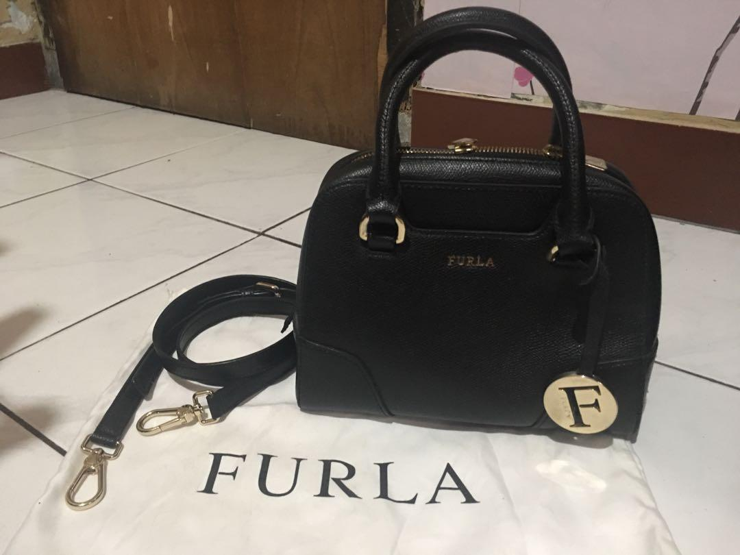 Authentic Furla Elena Mini Satchel Bag