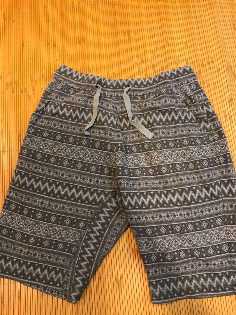G.U 民族風棉褲