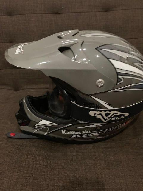 Helm kawasaki KLX 150 bf ori bonus gogle avega