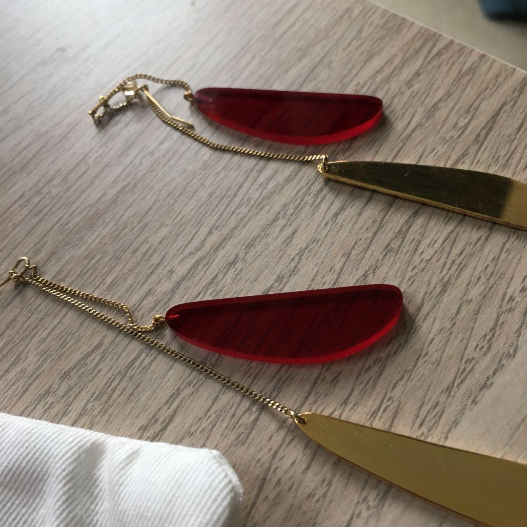 ISABEL MARANT gold red potatoes earrings