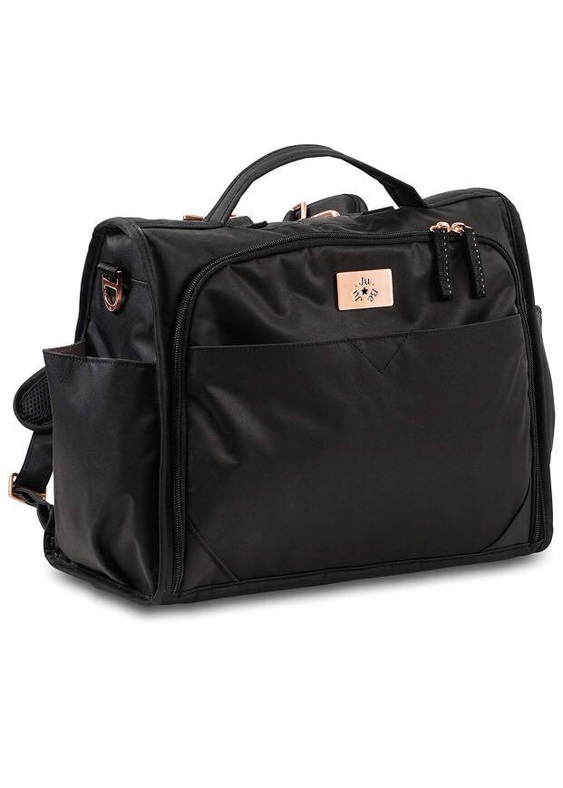 JuJuBe Limited Edition Classical Convertible Diaper Bag Black Rose