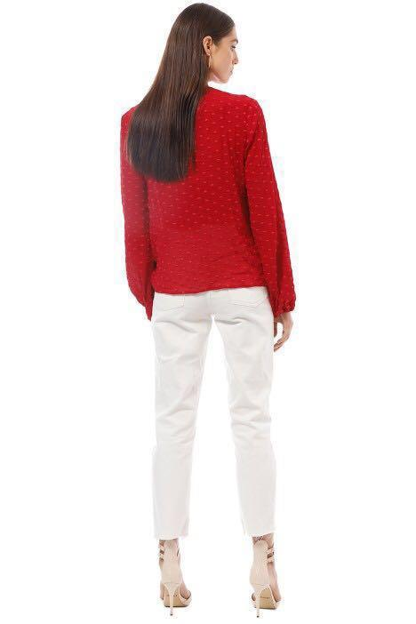 KEEPSAKE THE LABEL Deep Love LS Top - Crimson Red in Size S / 8