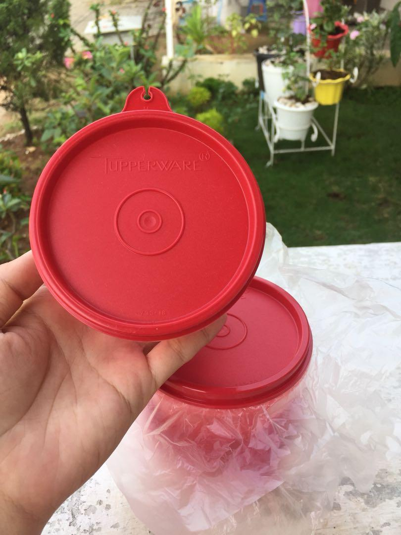 Kiddie bowl set merah tupperware original ecer (1)
