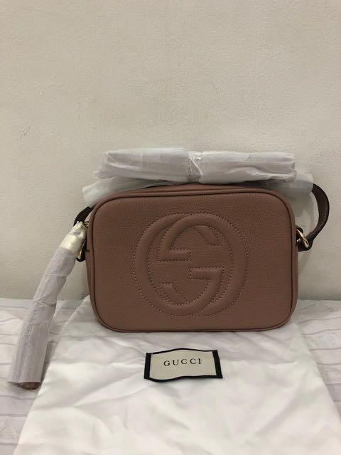 NEW - gucci sling bag ori leather with datecode (14x20cm) comes with care card and dustbag
