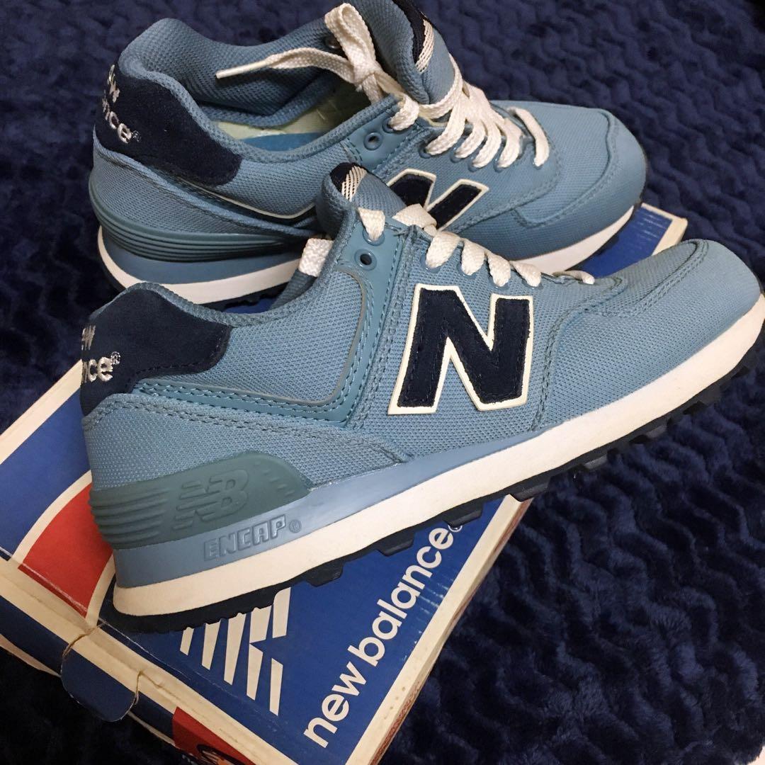 New Balance 574 WL574HRV 淡藍慢跑鞋