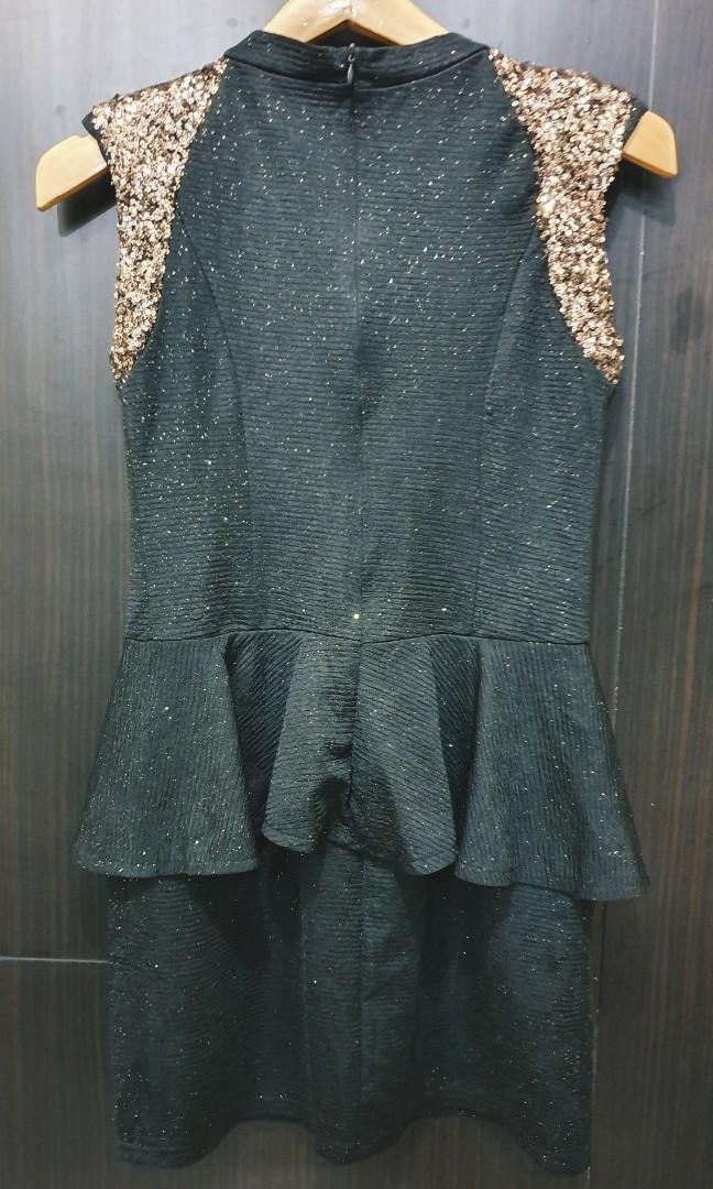 Peplum sequins dress