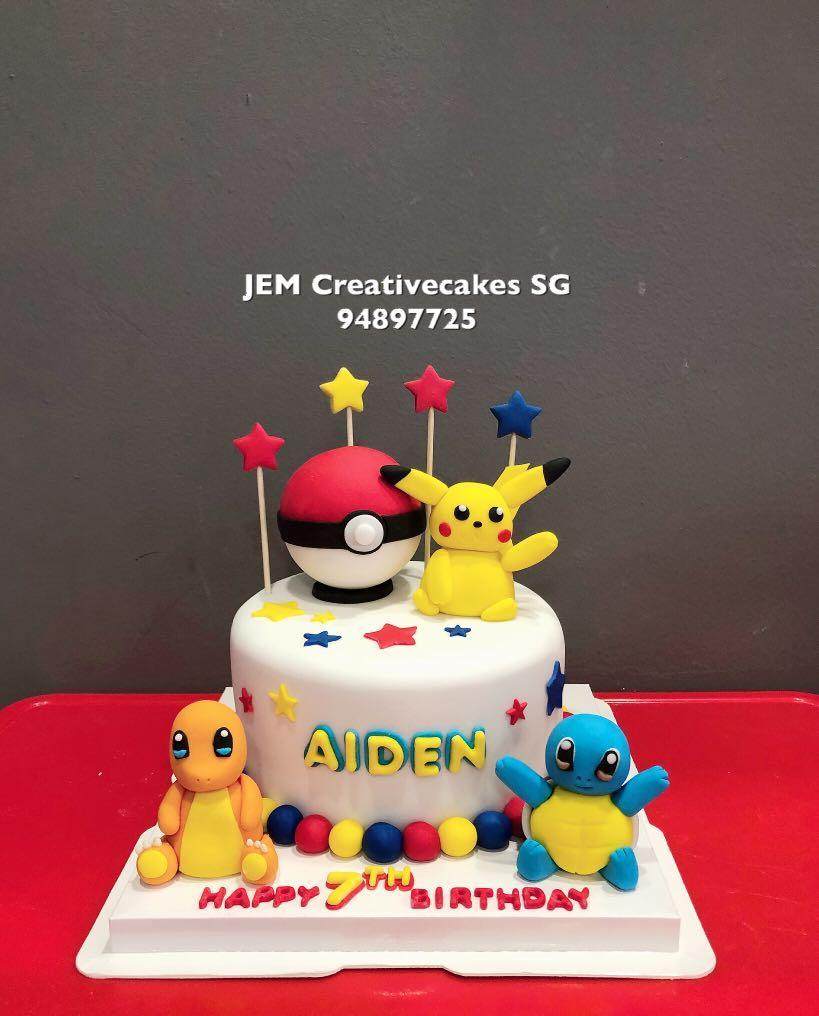 Super Pokemon Pikachu Birthday Cake Food Drinks Baked Goods On Carousell Funny Birthday Cards Online Hetedamsfinfo