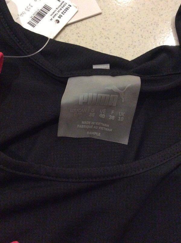 Puma sleeveless shirt size S (black only)