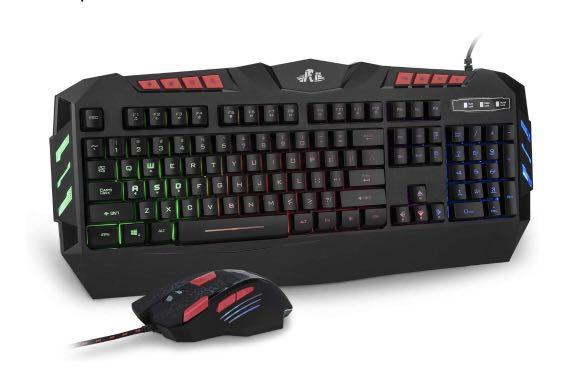 Rii RK900+ wired gaming keyboard and mouse set brand new