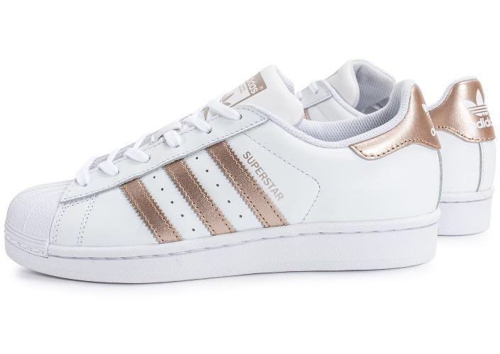 Rose gold adidas superstars