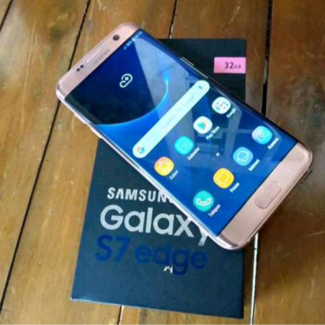 Samsung Galaxy S7 edge rose gold dus dan unit