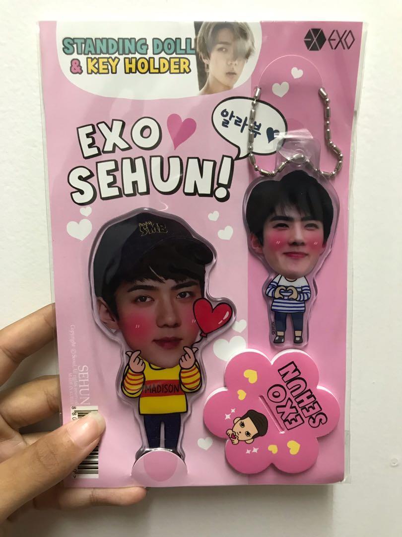 Standing Doll & Keyring Sehun fanmade Original from Korea