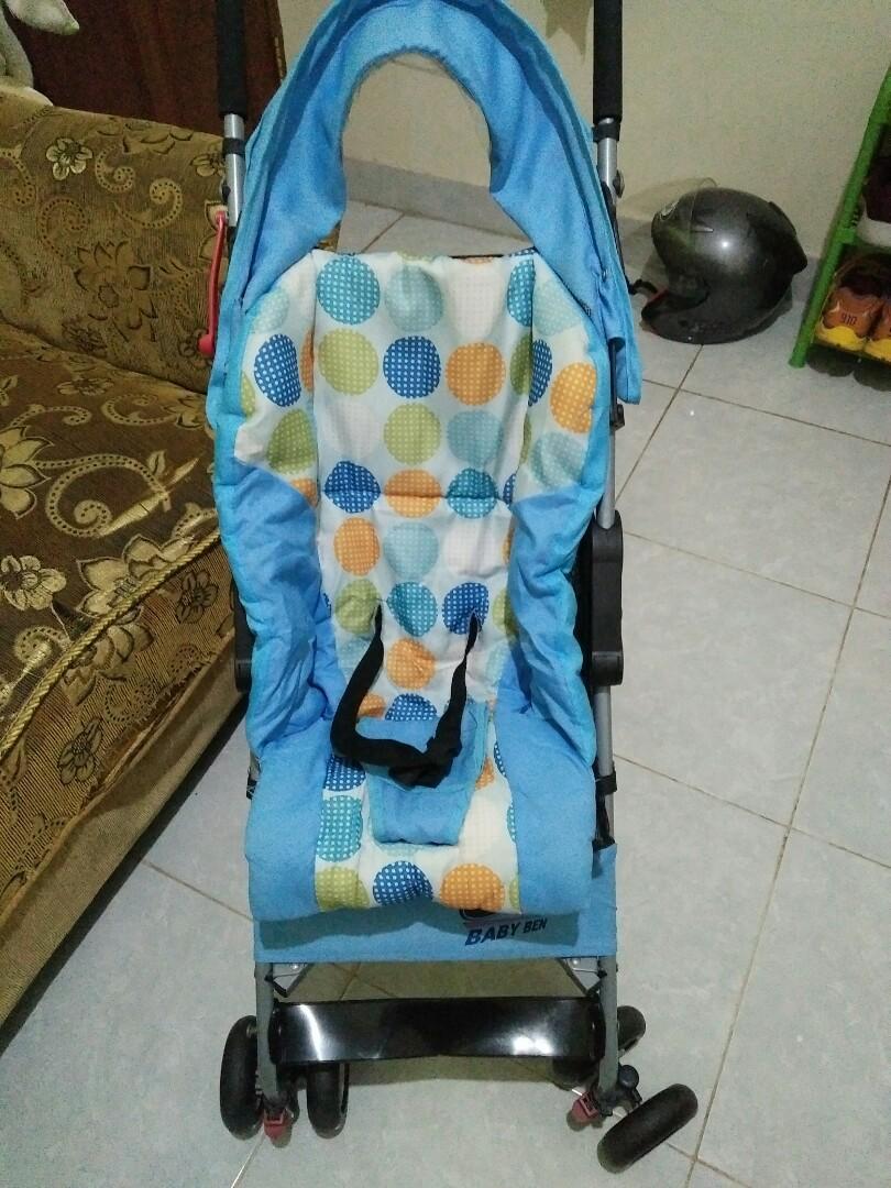 stroller lipet murah baby ben (blue)