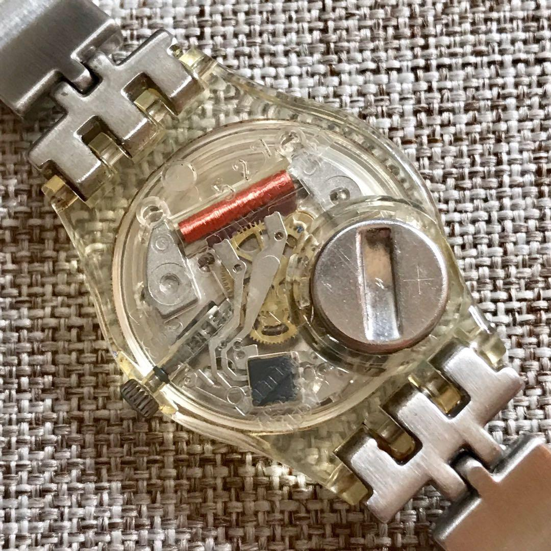 SWATCH 527 Swiss Made Original Desain Unik Water Resistant Stainless Steel