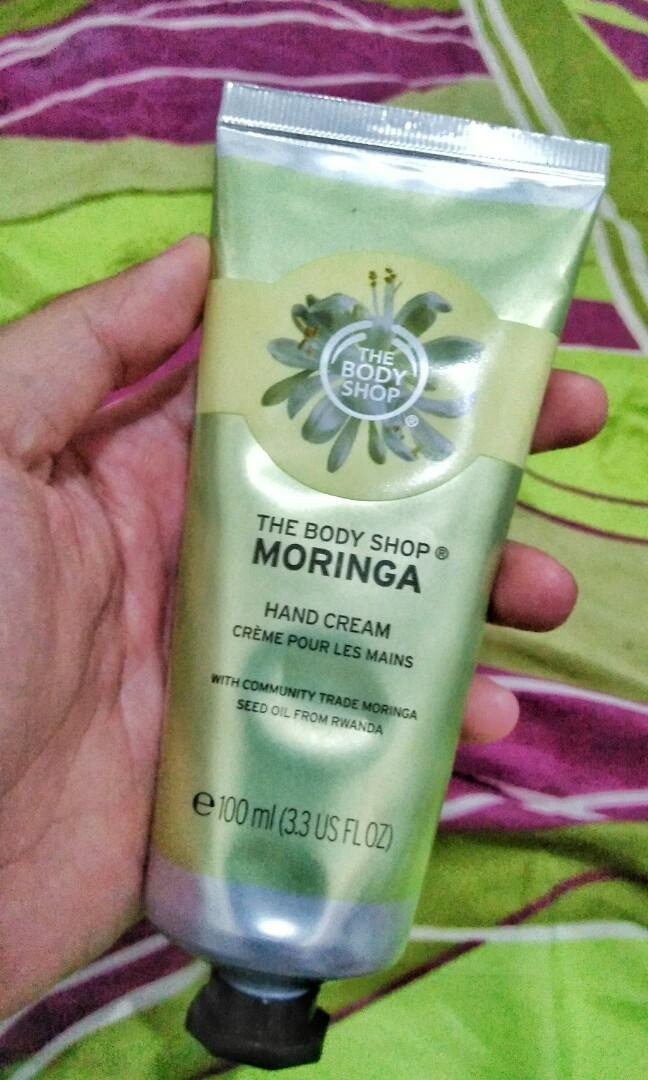 The body shop moringa hand cream besar
