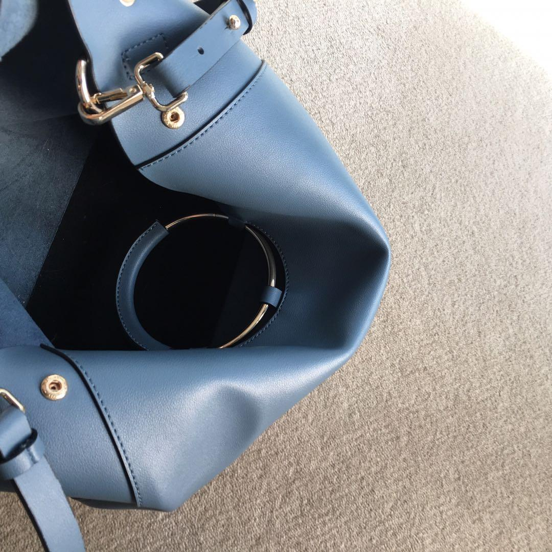 TOPSHOP blue shoulder bag