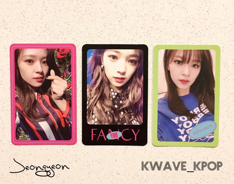 ✨TWICE FANCY YOU✨ MEMBER JEONGYEON Select 1 Official Photo Card Only