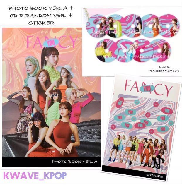 ✨TWICE FANCY YOU✨ PHOTO BOOK VER. A + CD-R (RANDOM MEMBER PRICE $13.99) or (YOUR PREFERRED MEMBER $17.99) + STICKER