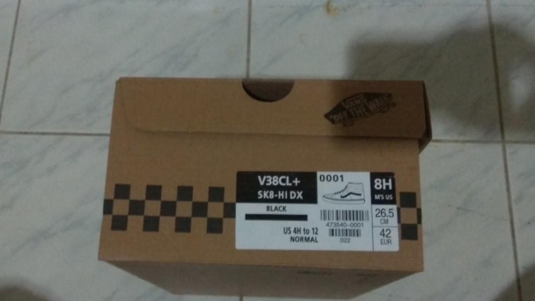 VANS SK8-HI V38CL BLACK/WHITE