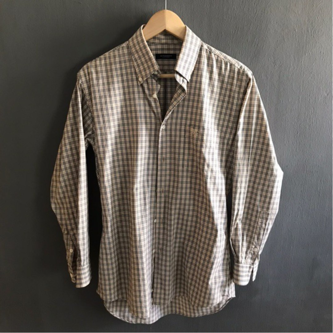 d09e161f38 VINTAGE BURBERRY CHECKERED SHIRT, Men's Fashion, Clothes, Tops on Carousell