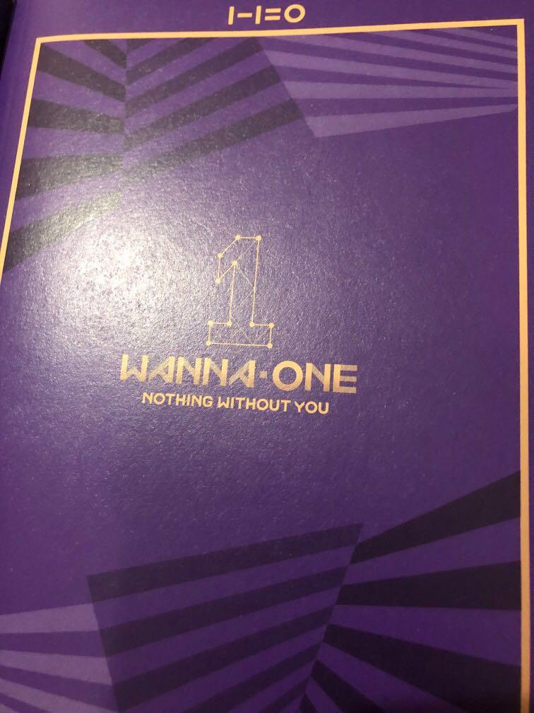 Wanna One Official Nothing Without You 1-1=0 album (with photocard and calendar)