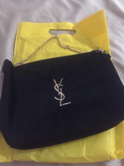 ysl sling bag suede authentic