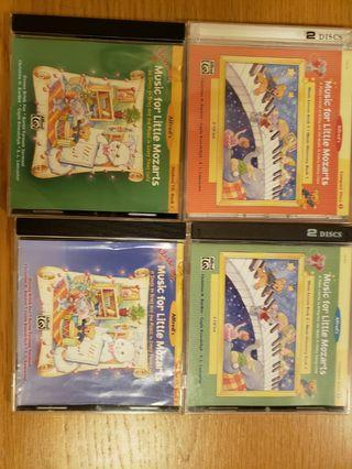 Music for little mozarts CDs 4件