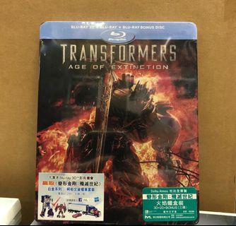 Transformer Age of Extinction blu-Ray 變形金剛 殲滅世紀 藍光碟鐵盒裝3D+2D+Bonus