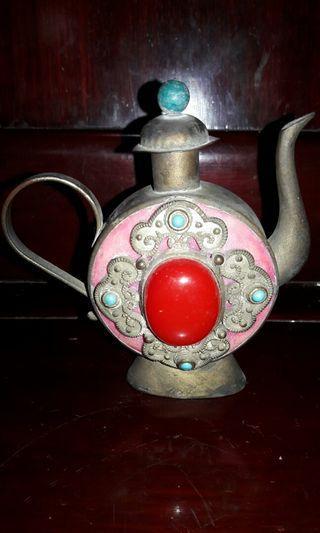 Red stone Pinky teapot #JuneToGo