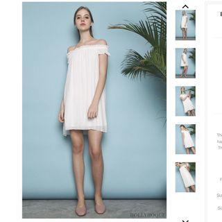 Hollyhoque Bianca Off-Shoulder Dress White