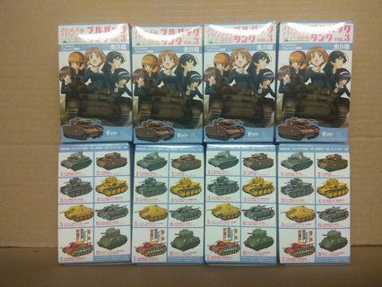 全新 少女戰車 回力坦克 全套8種 食蛋 食玩