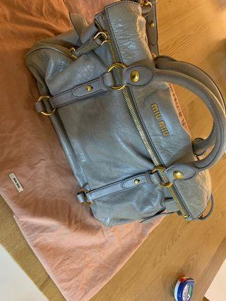 Miu Miu Vitello Lux Leather Bag