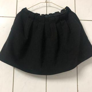 棉質鬆緊短裙有內襯