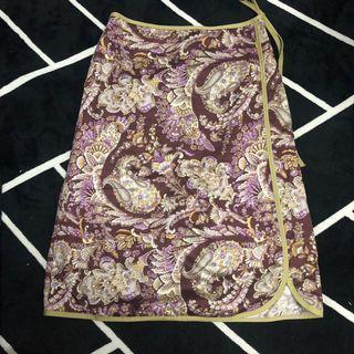 復古花紋旗袍短裙