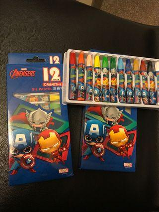 🚚 Brand new Marvel Avengers Crayon/ Oil Pastels as birthday goodie packs