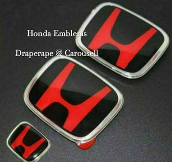 Fits all Honda models! Honda Black Base Res H emblem!