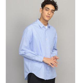 【全新】YU SELECT-優選 BEAUTY&YOUTH UNITED ARROWS M號 淺藍色素面寬鬆長袖襯衫
