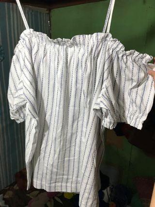 H&M Tshirt baju sabrina