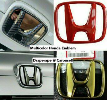 Gold / Carbon Fibre / Gloss Black / Red - Honda Front & Rear Emblem for all Honda Models!