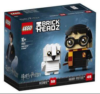 LEGO 41615 BrickHeadz Harry Potter & Hedwig Building Set,